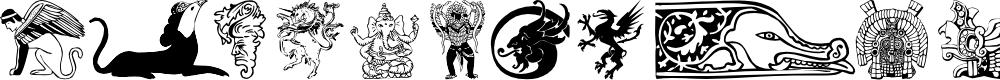 Preview image for Mythology 1 Font
