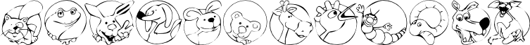 KR Circle Scraps font