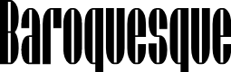 Preview image for SF Baroquesque Font