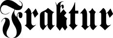 Preview image for Fraktur Font