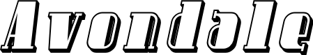 Preview image for Avondale Shaded Italic