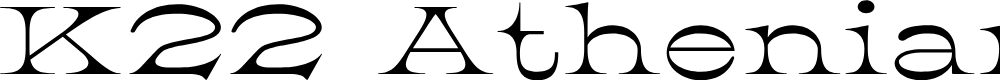 Preview image for K22 Athenian Wide Font