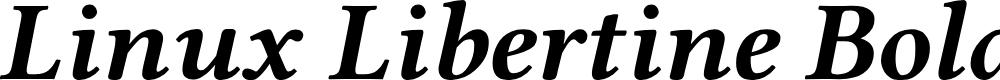 Preview image for Linux Libertine Bold Italic