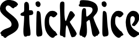 Preview image for StickRice Font