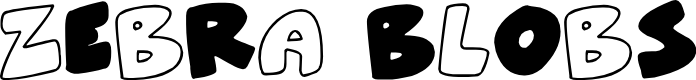 Preview image for ZeBrA bLoBs Font