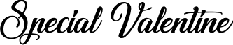 Special Valentine font