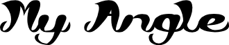 My Angle font