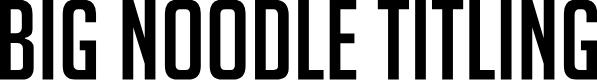 Preview image for BigNoodleTitling Font