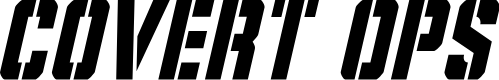 Preview image for Covert Ops Condensed Italic