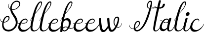 Sellebeew Italic