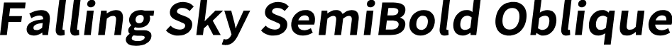 Falling Sky SemiBold Oblique