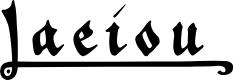 Preview image for _a e i o u Font