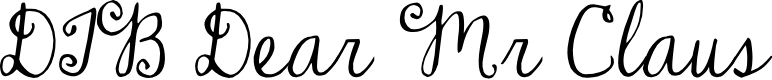 Preview image for DJB Dear Mr Claus Font