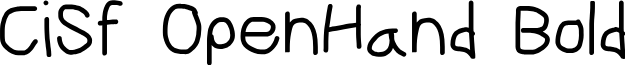 CiSf OpenHand Bold