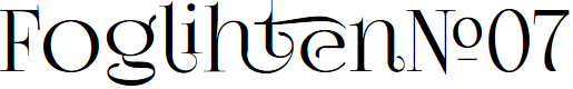 Preview image for FoglihtenNo07 Font