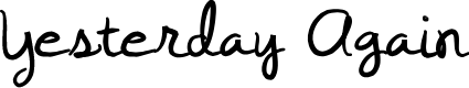 Preview image for Yesterday Again Font