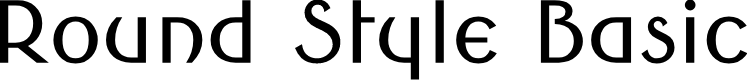 Preview image for Round Style Basic Font
