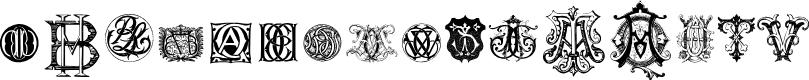 Preview image for Intellecta Monograms Random Samples Nine Font