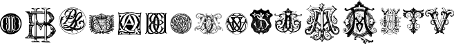 Intellecta Monograms Random Samples Nine font