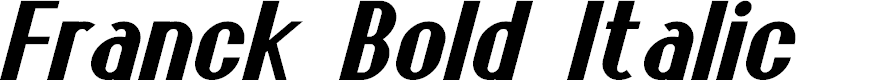 Preview image for Franck Bold Italic