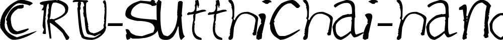 Preview image for CRU-Sutthichai-hand-writen Font