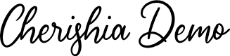 Preview image for Cherishia Demo Font