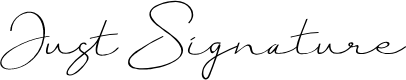 Preview image for Just Signature Font