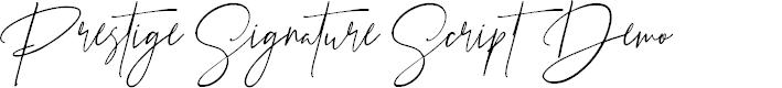 Preview image for Prestige Signature Script - Demo Font