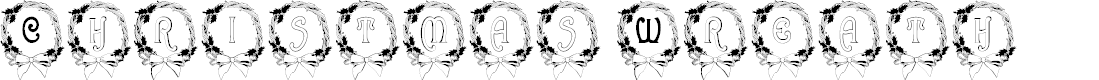 Preview image for BJF Christmas Wreath Font