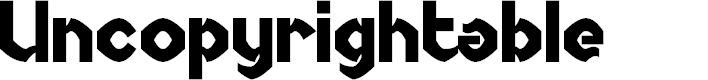 Preview image for Uncopyrightable Font