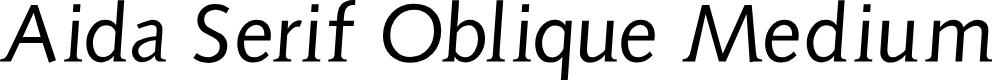Preview image for AidaSerifObliqueMedium Font