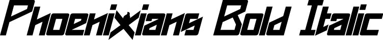 Preview image for Phoenixians Bold Italic