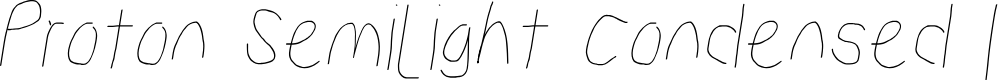 Preview image for Proton Semilight Condensed Italic