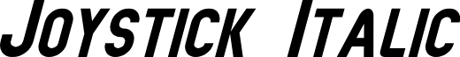 Joystick Italic