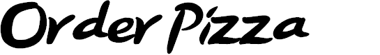 Preview image for Order Pizza Font
