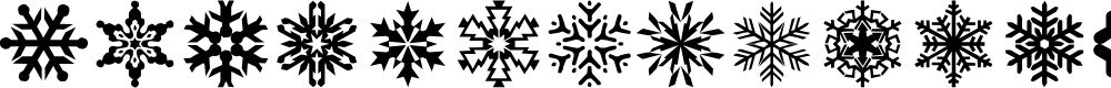 Preview image for lpsnowflake Font