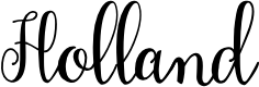 Preview image for Holland Font