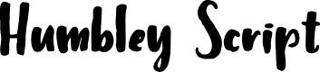Preview image for Humbley Script Font