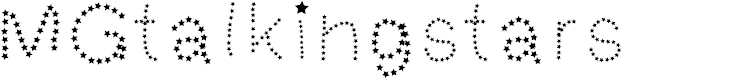 Preview image for MGtalkingstars Font