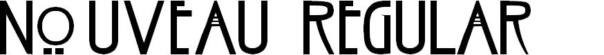 Preview image for Nouveau Regular Font