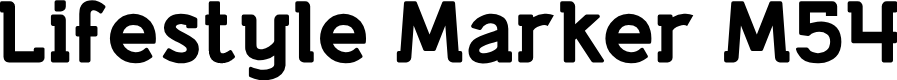 Preview image for Lifestyle Marker M54 Font