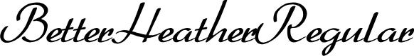 Preview image for BetterHeatherRegular Font
