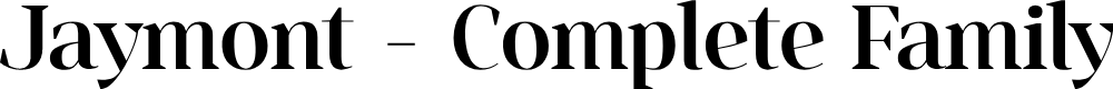 Preview image for Jaymont PERSONAL Medium Font