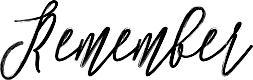Preview image for Remember Font