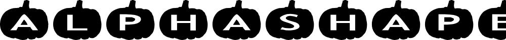 Preview image for AlphaShapes pumpkins Font