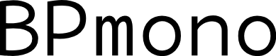 Preview image for BPmono Font