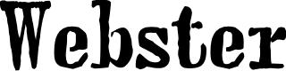 Preview image for webster Font