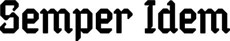 Preview image for Semper Idem Font