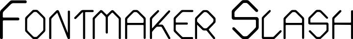 Preview image for Fontmaker Slash Font