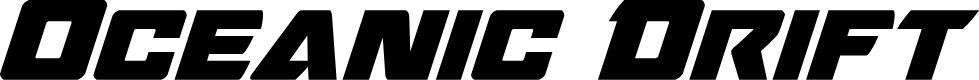 Preview image for Oceanic Drift Bold Italic
